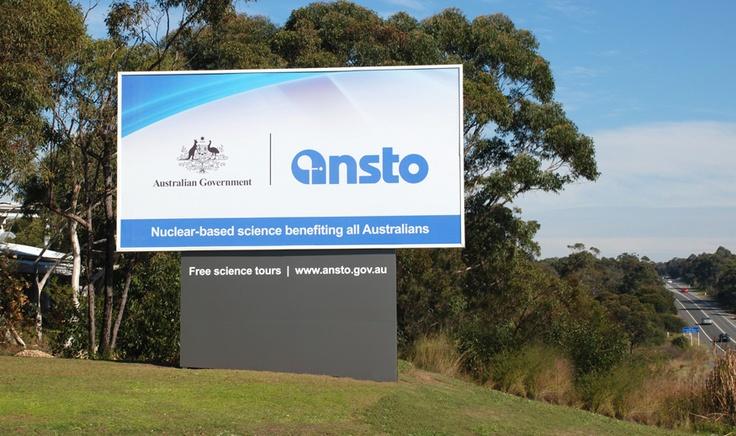 Singleton Moore Signs www.smsco.com.au billboard pylon sign visual identity corporate signage solution for ANSTO
