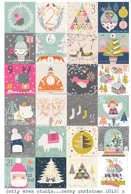 dottywrenstudio advent calendar. I'm ready to count down to Christmas again already!