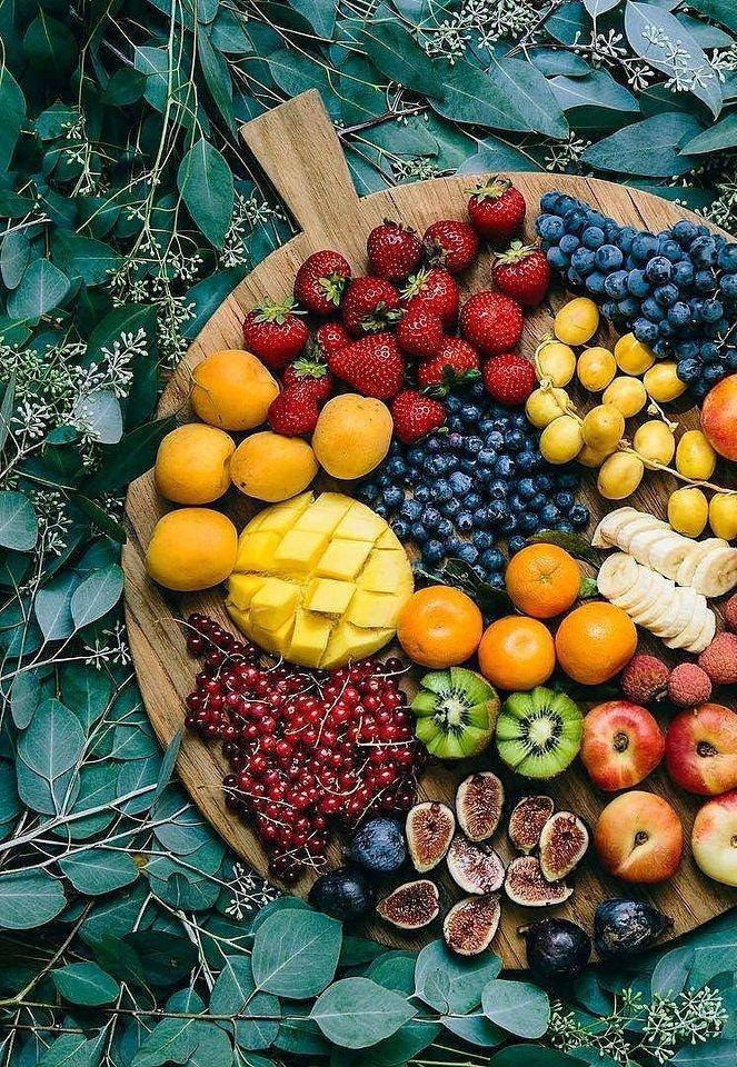 Fruit salad presentation.