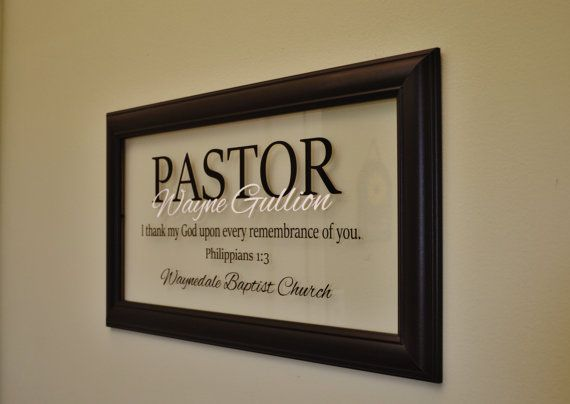 Pastor Gift Pastor Appreciation Wall Decor by WallWearDesigns