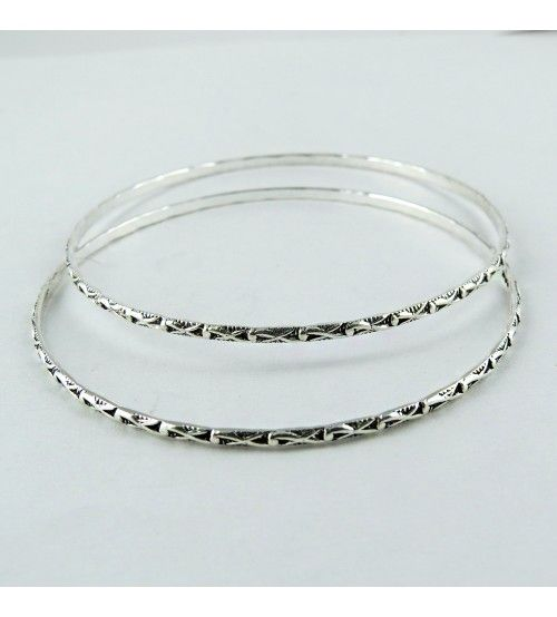 Charmed Memories Lotus Bangle Bracelet Sterling Silver l0BqPS