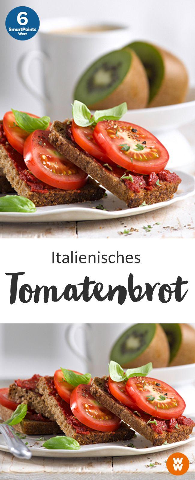 Italienisches Tomatenbrot | 6 SmartPoints/Portion, Weight Watchers, schnelles Frühstück