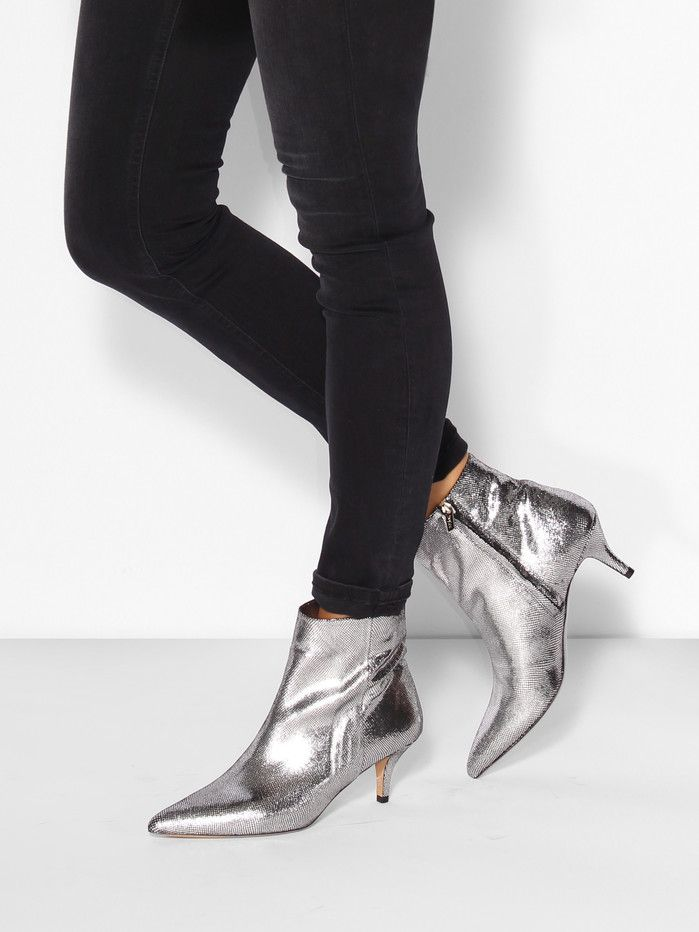4b61bf7df Bambi leather ankle boots with print | Women's Shoes | Boots, Shoes ...