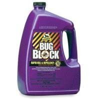 ABSORBINE BUG BLOCK INSECTICIDE & REPELLENT, Size: 1 GALLON (Catalog Category: Equine Fly Control:FLY & INSECT CONTROL) by W F YOUNG, INC. $60.90. Kills and repels more than 70 species; highly effective on biting flies, gnats, ticks and chiggers. Field tests prove 7-14 days effectiveness after initial treatment period. Can be used as a premise spray. Use on horses, ponies and dogs.Ingredients: Permethrin=0.20% / Pyrethrins=0.10% / N-Cctyl Bicycloheptene Dicarboximide=0....