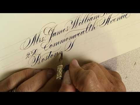 Envelope calligraphy - Copperplate & modern script by Suzanne Cunningham - YouTube