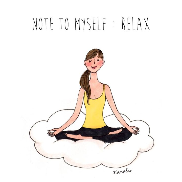 it's monday, but it's okay #relax #illustration