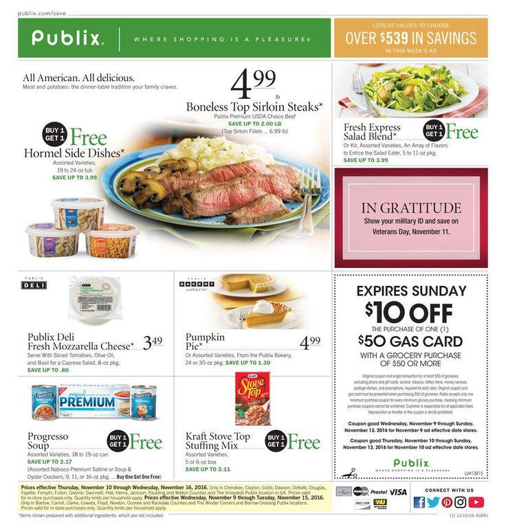 Publix weekly ad Nov. 9 - Nov. 15 United States grocery circulars