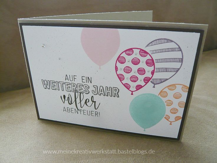 Ballonparty, stampin up, Geburtstagskarte, www.meinekreativwerkstatt.bastelblogs.de