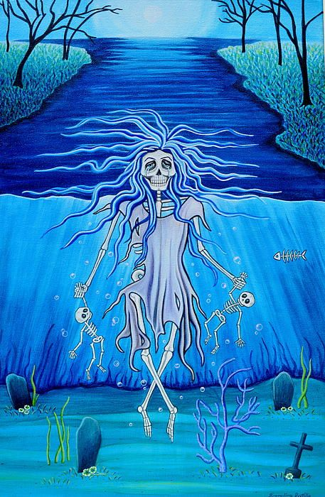La Llorona Arrepentida Canvas Print / Canvas Art by Evangelina Portillo                                                                                                                                                                                 More