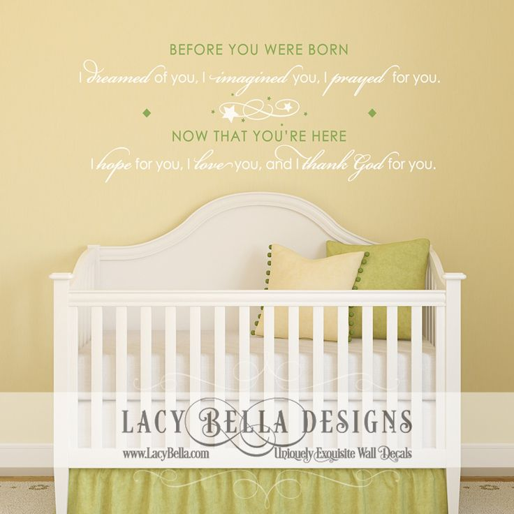 53 best Kids Rooms - Nursery images on Pinterest | Vinyl decals ...