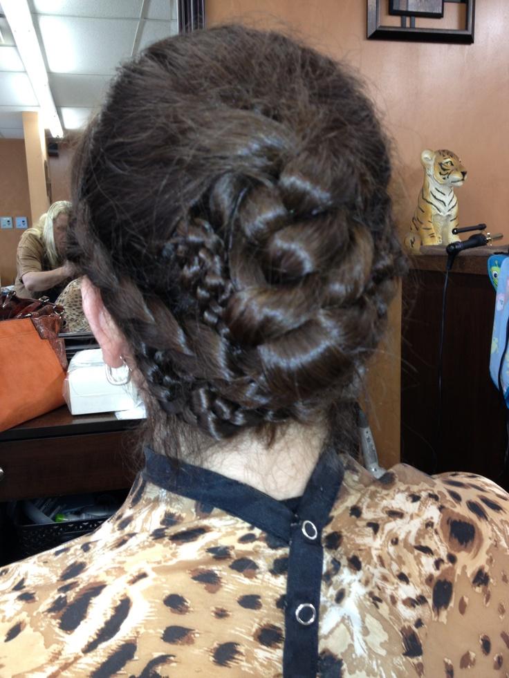 all braid updo