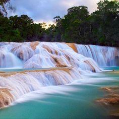 Cascadas de Agua azul, Chiapas, México