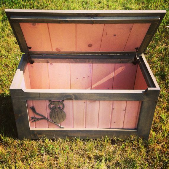 Rustic Toy Chest (Pink) By MidAtlanticRustic On Etsy