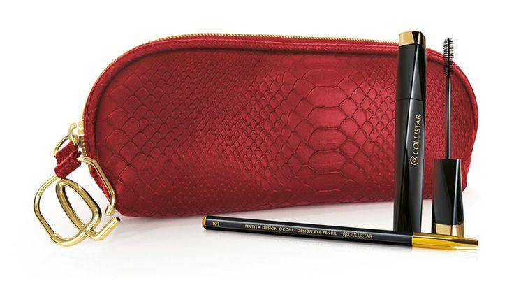 Occhi - Mascara Design® Ultra Nero + Matita Design 101 Nero + pochette Piquadro