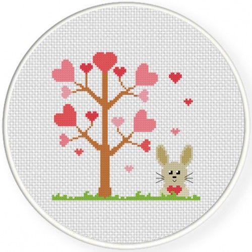 Love Season Cross Stitch Illustration