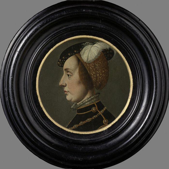 Ян ван Скорел (Jan van Scorel) (1495 - 1562) Portrait of Anne of Lorraine (1522-1568), wife of René de Châlon, Prince of Orange - possibly copy after Jan van Scorel Rijksmuseum, Amsterdam
