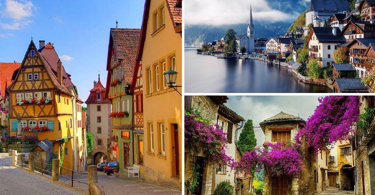 20 reálných vesniček, které vypadají jako z pohádky