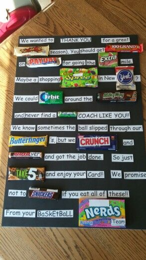 Thank you card for basketball coach