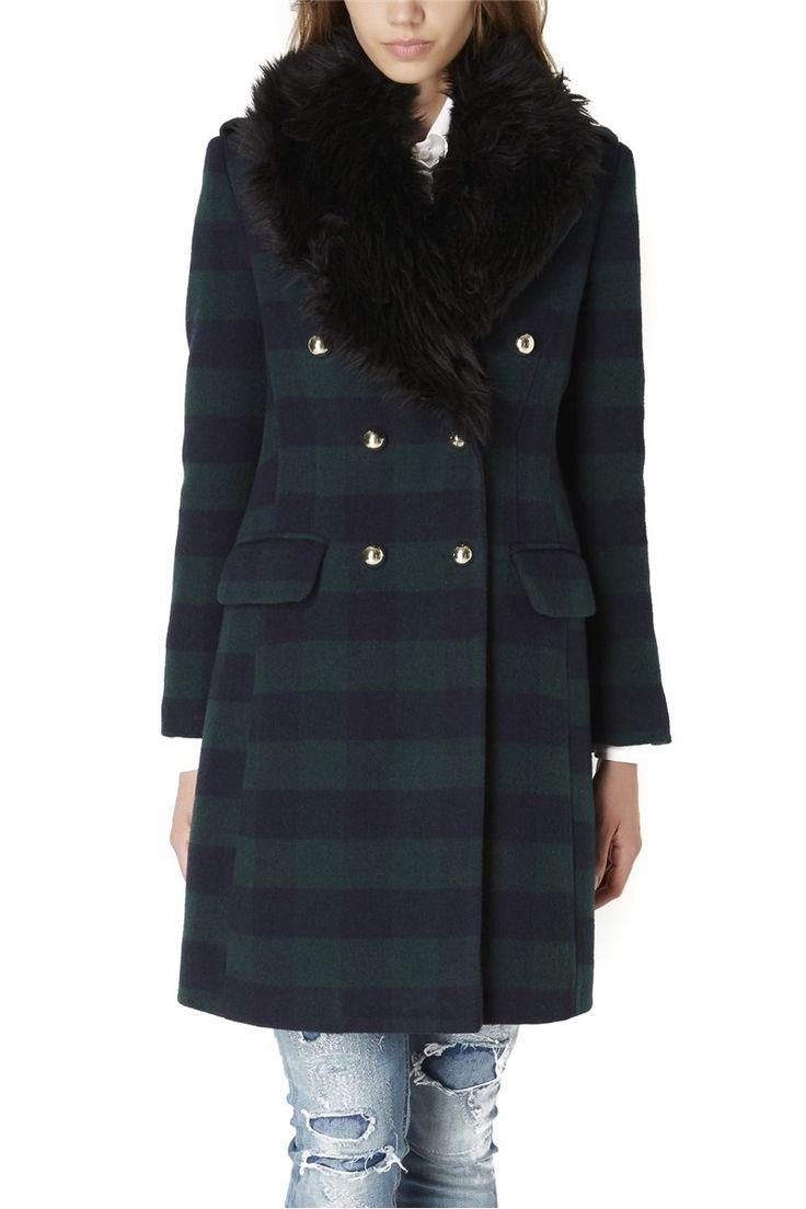 Almagores , Check Cloth Coat, Green Blue, Art 541AL30317