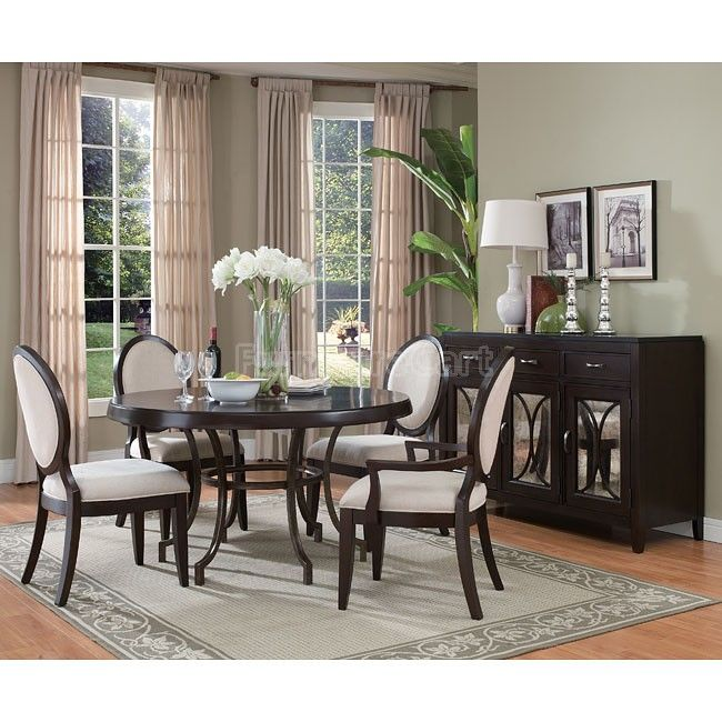 Plaza Square Round Dinette W Oval Back Chairs Home Style Pinterest Dining Room And