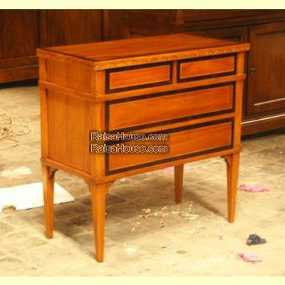 French Chest 4 Drawers Inlay Refrence : RBS 026 Dimension : 80 x 40 x 80 cm Material : #WoodenMahogany Finishing : #Custom Buy this #Bedside for your #homeluxury, your #hotelproject, your #apartmentproject, your #officeproject or your #cafeproject with #wholesalefurniture price and 100% #exporterfurniture. This #FrenchChest4DrawersInlay has a #highquality of #AntiqueFurniture #WholesaleFurniture #FurnitureManufacturer #ReproductionFurniture #FurnitureWarehouse #GalleryFurniture