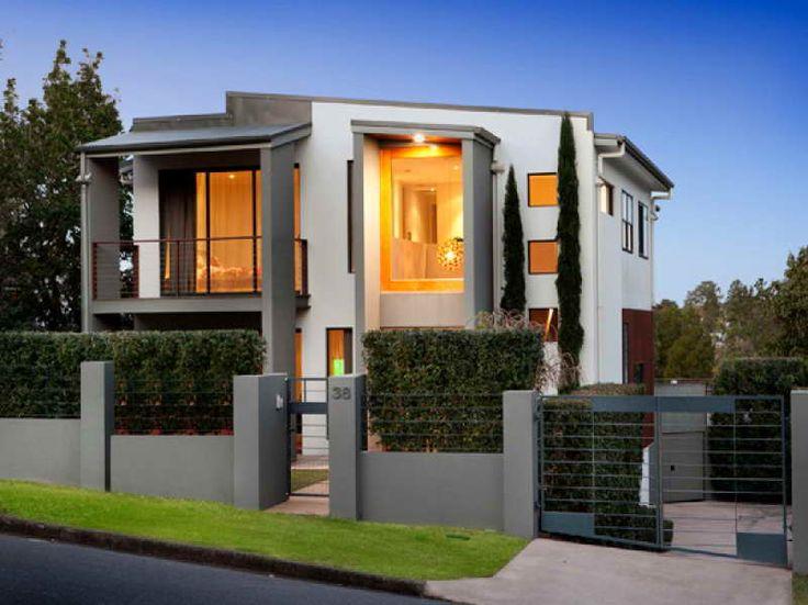 34 best modern house facades images on pinterest modern for Modern house 44