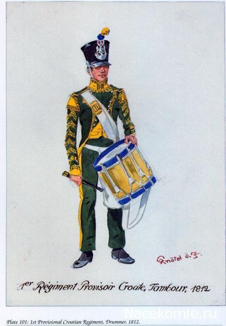 Tamburo del 1 rgt. di fanteria provvisorio croato, 1813