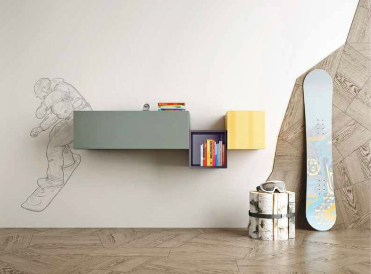 Composition of three 36e8 Lago storages designed for the room of children and teenagers, but also perfect as a composition for your Living or office. Available here: http://www.malfattistore.it/en/product/36e8-storage-0289/ #malfattistore #shoponline #lagodesign #bedroom #kidsandyoung #camerettalago #italiandesign #onlineshop