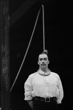 Tim Curry (b.1946) as Macheath in Bertolt Brecht and Kurt Weill's The Threepenny Opera