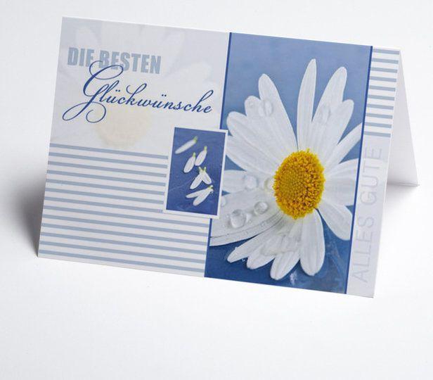 grusskarte blauwei mit margeriten grusskarten. Black Bedroom Furniture Sets. Home Design Ideas