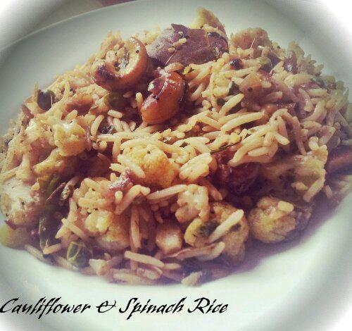 Vegan Cauliflower and Spinach Rice