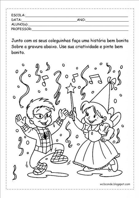 Atividades da tia: BAIXE EM PDF - ATIVIDADES EDUCATIVAS DE CARNAVAL