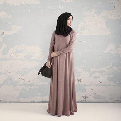 Dusty Pink Tailored Flare Abaya - £47.99 : Inayah, Islamic Clothing & Fashion, Abayas, Jilbabs, Hijabs, Jalabiyas & Hijab Pins