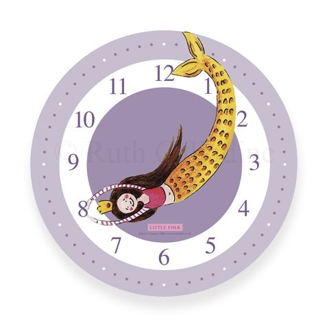 The Little Mermaid Clock | Children's Personalised Mermaid Wall Clock | Personalised Gifts ...