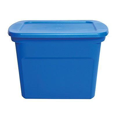 sterilite blue 18 gallon tote at big lots 23 5 l x 18 4 w x 16 1 h storage bins. Black Bedroom Furniture Sets. Home Design Ideas