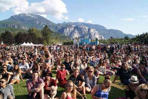 Squamish Valley Music Festival crowds surrounded by great music and beautiful views