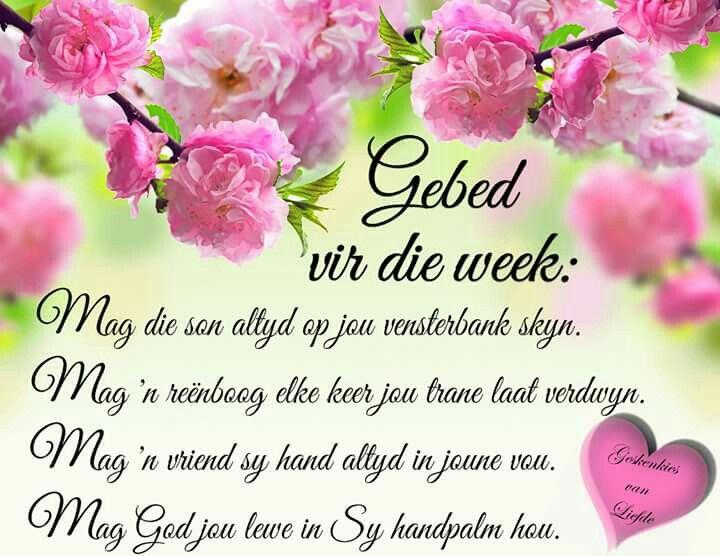 Gebed vir die week