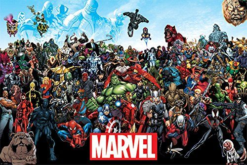 "Marvel Comics Universe - Comic Poster / Print (All Marvel Characters) (Size: 36"" x 24"") - http://moviesandcomics.com/index.php/2017/05/07/marvel-comics-universe-comic-poster-print-all-marvel-characters-size-36-x-24/"