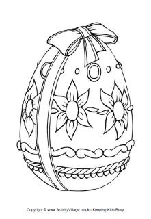 Easter egg colouring page