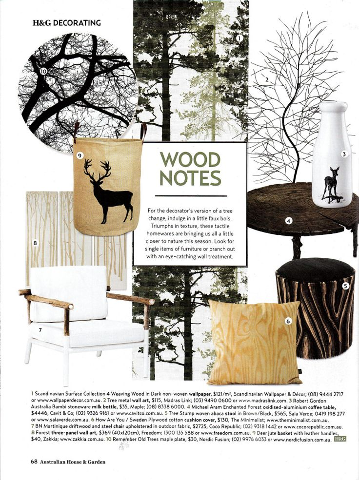 Scandinavian Surface Collection 4 Weaving Wood Dark Mural House & Garden Magazine