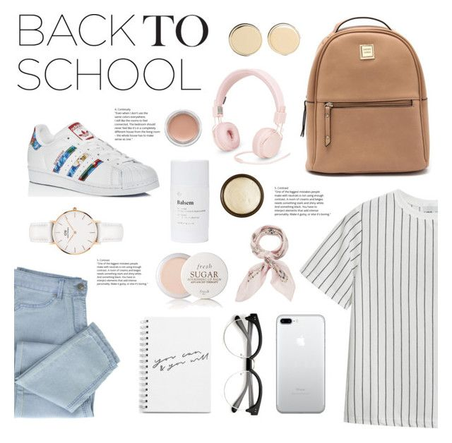 """Back to School Cutie"" by belleshines ❤ liked on Polyvore featuring Chicnova Fashion, adidas, Givenchy, Daniel Wellington, Urbanears, Fresh, Manipuri, Aurelia Probiotic Skincare, Balsem and MAC Cosmetics"
