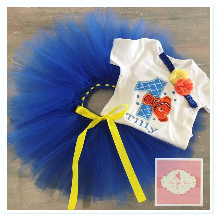 Embroidered Nemo tutu set
