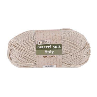 4 Seasons Marvel Soft 8 Ply Yarn Beige 100 g