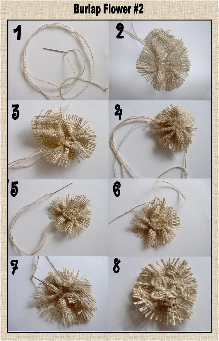 First aconfession: I've never made burlap flowers before thisand I've never read a tutorial on how to make them. I've seen a lot of cute...