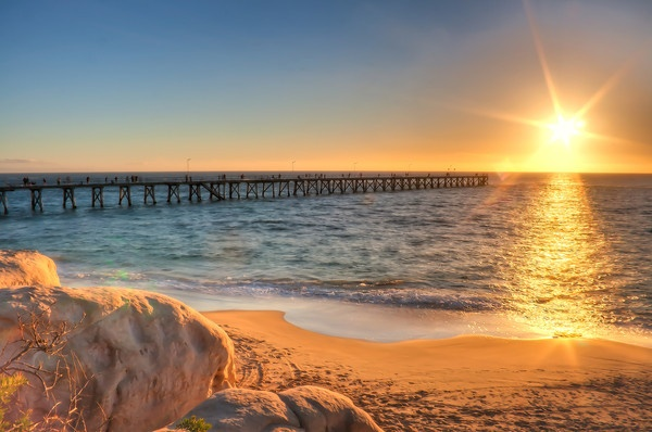 Port Noarlunga Beach Jetty, South Australia • Adelaide's beaches