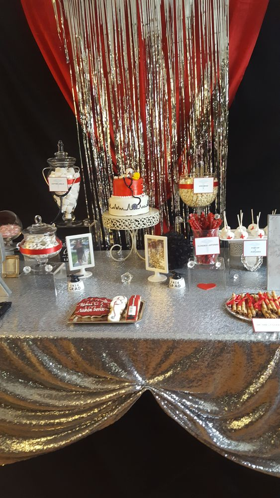 You have to see this nurse graduation party! See more party planning ideas at CatchMyParty.com!