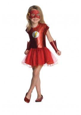 Disfraz de Flash DC Comics tutú para niña