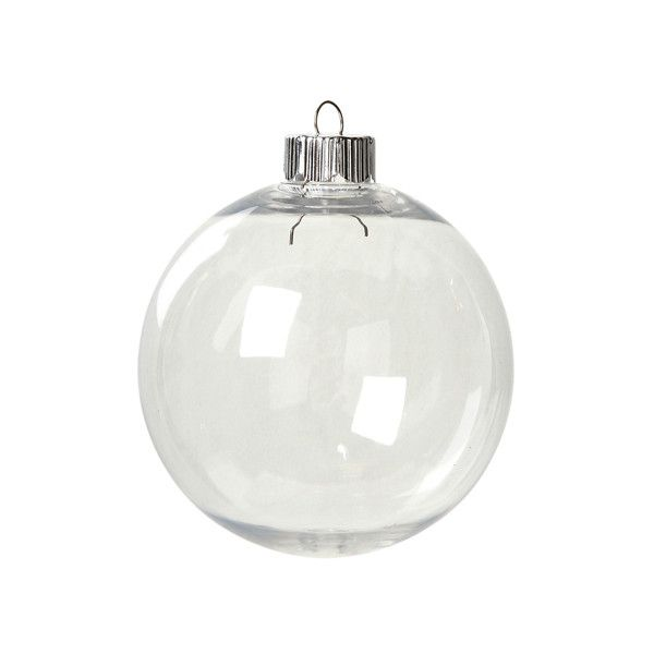 Clear Plastic Ornaments 83mm Round Christmas Ornament (1.29 CAD) ❤ liked on Polyvore featuring home, home decor, holiday decorations, plastic ornaments, round ornaments, plastic christmas ornaments, plastic christmas tree ornaments and round christmas ornaments