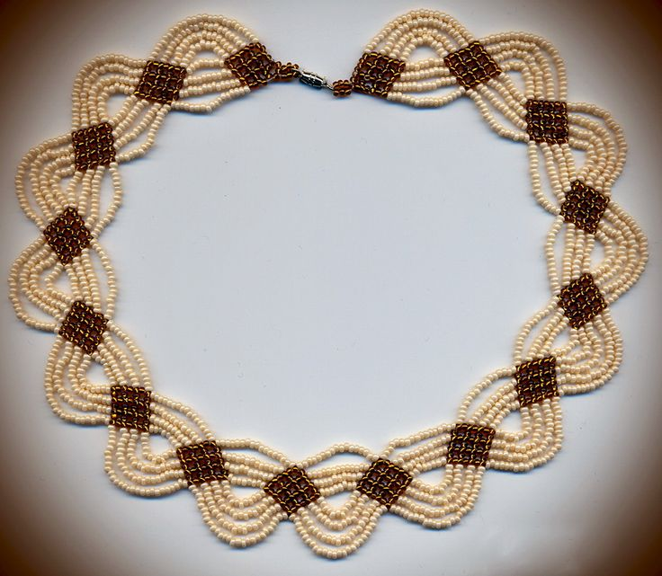 Free pattern for necklace Cream&Caramel | Beads Magic