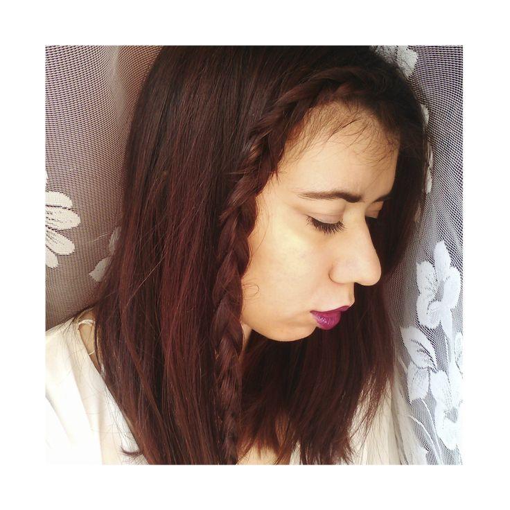 The beautiful blogger @abfashionlights used NATURIGIN 7.55 Medium Blonde Deep Red <3